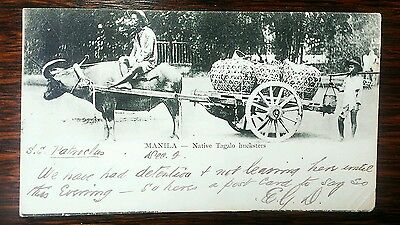 Superb early postcard Manila Philippines from SS Patroclus to Cheshire UK 1902