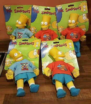 the simpsons bart window clingers group of 5 by vivid imaginations