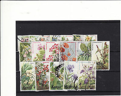 Kenya - 1983-85 Flowers Definitives 18 Out Of 20, Help Fill Those Gaps