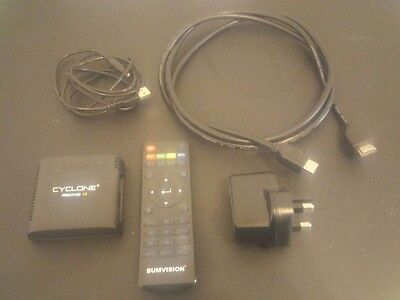 Sumvision Cyclone Micro 4 Media Player - Remote, HDMI Cable, AC Adaptor