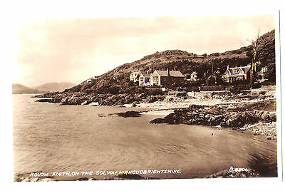 Roughfirth Rough Firth Solway Firth SCOTTISH SCOTLAND OLD RP PHOTO POSTCARD