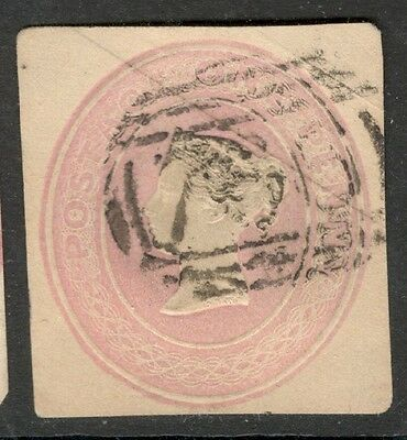 Queen Victoria - 1d Pink Embossed - Postal Stationery.