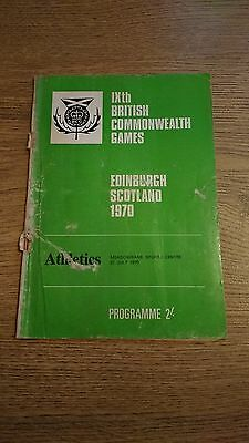 Commonwealth Games 1970 Athletics Programme