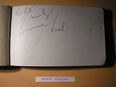 Ronnie Verrell - Original Hand-Signed Album Page