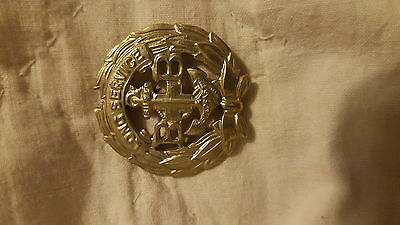 The Boys Brigade Long Service Award Badge - Voided White Metal Die Cast