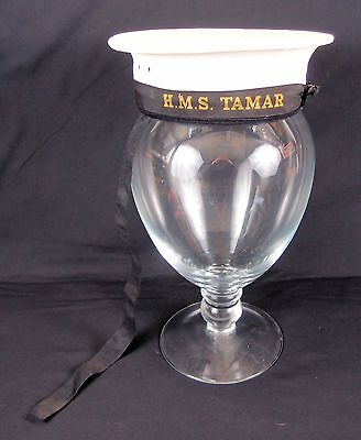 HMS Tamar WW2 British Royal Navy Sailor's Cap (Donald Duck or Pork Pie Hat)