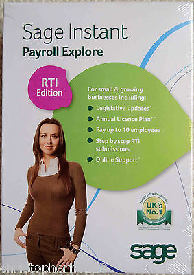 Sage Instant Payroll Explore RTI Edition Software Package