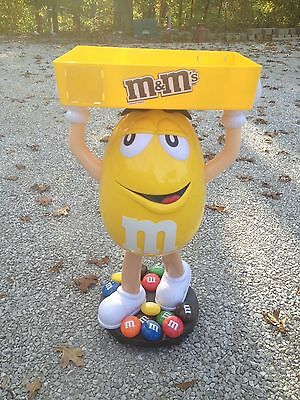 M&M Floor Candy Counter Store Display Yellow M & M Tray Wheels White Shoes