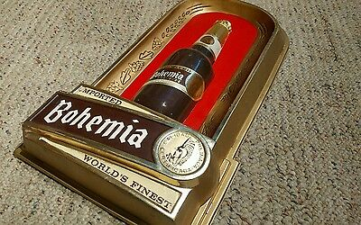 Bohemia Beer vintage Embosograph plastic vaccuum formed sign