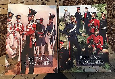 BRITAIN'S SEA SOLDIERS A History of the Royal Marines Volumes 1 & 2 Col C Fields