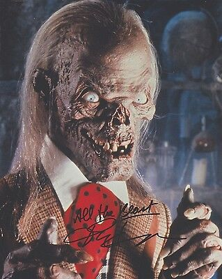 """Signed Original Color Photo of John Kassir of """"Tales From the Crypt"""""""