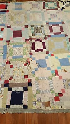Antique quilt multi colored pattern hand quilting cutter quilt cotton fabric