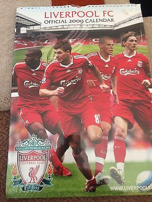 Liverpool F.C 2009 Official Calendar Sealed Collector Item In Opened Gerrard