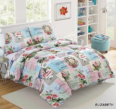 Duvet Quilt Cover with Pillowcases Bedding Set Size King Design ELIZABETH