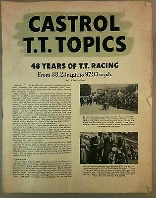 Original 1955 Castrol Tt Topics - Isle Of Man Tt