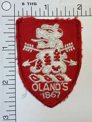 Unique OLAND's 1867 Beer Vintage Embroidered Patch Crest USED Nova Scotia Canada