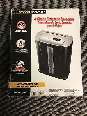 Shredder Essentials TT-C803 8 Sheet Desk Top Paper Shredder