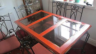 Glass And Wood Dining Table With Chairs