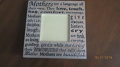 special mother photo frame in silver and gold colouring