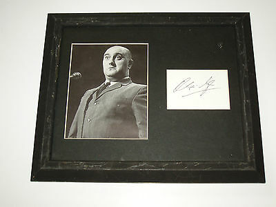 Alexi Sayle Framed & Mounted Autograph & Black & White Photgraph