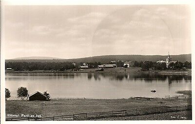 Rare Old Postcard - Lovely View - Vittangi - Norrbotten County - Sweden C.1955