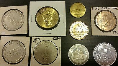 Lot Of 9 Medallions / Tokens