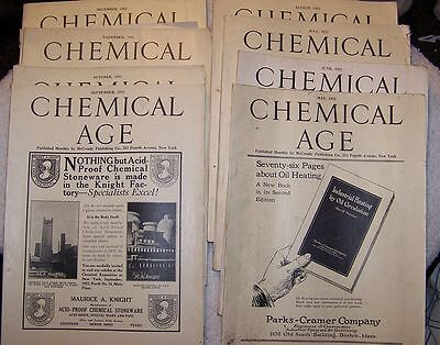 8 Issues May _ December 1922 Chemical Age Magazine Vintage Chemistry