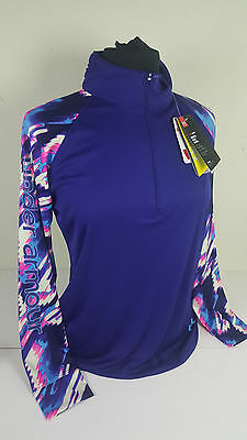 Nwt Under Armour Youth Kids Girl Purple 1/2 Zip Shirt Top Sz Ylg Large