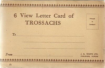 Lovely Old 6 Different Views Lettercard - The Trossachs - Stirlingshire - C.1939