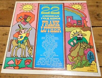 22 American folk songs - Frank Luther