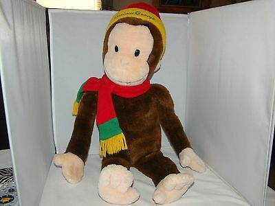 "Curious George Monkey with Hat & Scarf for Macy's 24"" Big Stuffed Animal Plush"