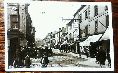 Superb early real photo street scène Westgate, Mansfield postcard top quality