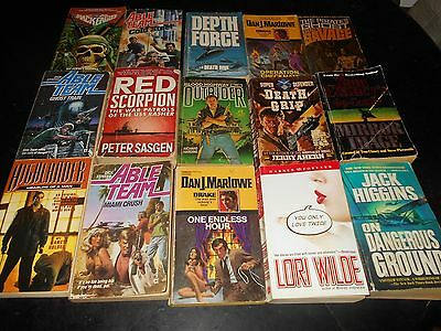 Lot of 15 action/adventure books