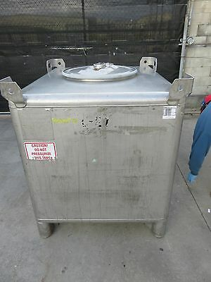 350 gallon stainless Hoover tote tank