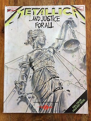 Guitar Tab Music Book Metallica And Justice for All 1989 Rare