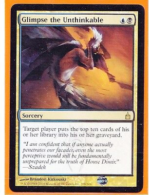 MTG  1 x   GLIMPSE THE UNTHINKABLE   Ravnica  Rare  Sorcery  Never played