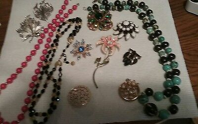 BEAUTIFUL!  12 pieces  vintage lot of marked jewelry.  TRIFARI Weiss Judy Lee