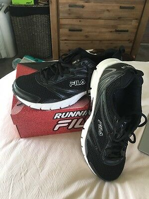Fila Trainers Running Shoes Size USA 11 (UK 8.5) Black - Brand New
