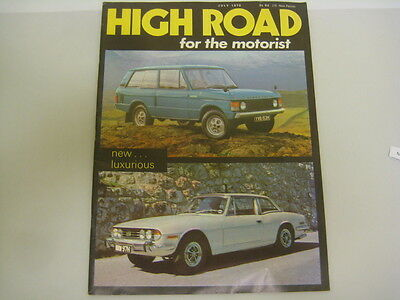 High Road for the Motorist Car enthusiast magazine from July 1970