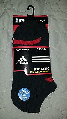 Youth Adidas No Show 3 Pair Athletic Socks size M (13-4)
