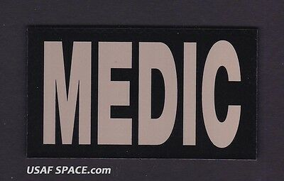 """AUTHENTIC US MILITARY IR INFRARED - MEDIC - 3.5"""" x 2"""" PATCH on HOOK & LOOP"""