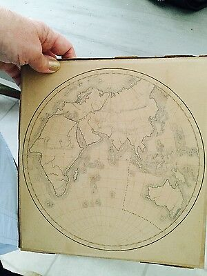 Vintage pencil drawing of world globe?