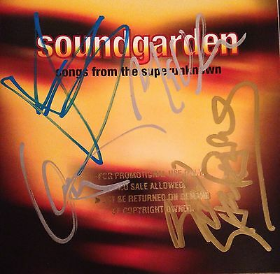 Sound Garden CD Songs From The Super Unknown Autographed By Four Original