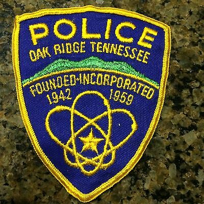 Oak Ridge Tennessee State Y12 Nuclear Plant police patch
