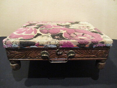 Vintage Antique French Foot Warmer Foot stool