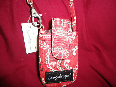 Longaberger Red Bandana Flip Phone Case--new with tags--SALE!!!