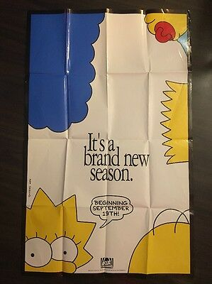 The Simpsons Season 3 Promotional Poster 1991 Very Rare Television Promo Fox