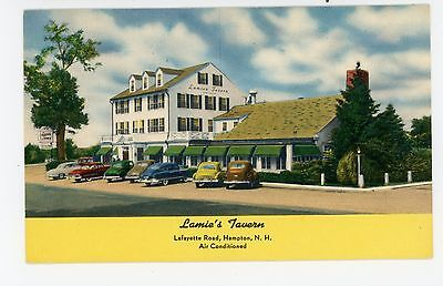 Lamie's Tavern—Hampton NH Vintage Roadside Advertising—Parked Cars 1940s