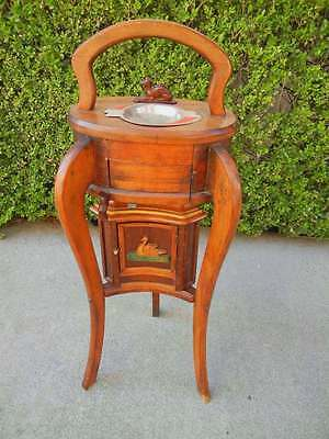 Unusual Vintage Mechanical Smoke Stand  Tobacco Humidor, Ashtray, Cigarettes