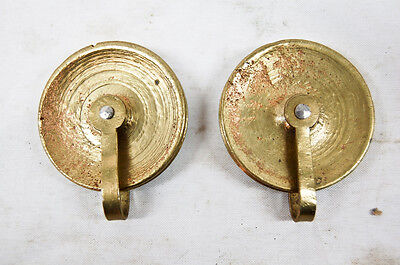 American grandfather clock matching pair of weight pulleys @ 1795